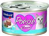 Vitakraft Poesie Mousse + salmone, pacco da (12X 85G)