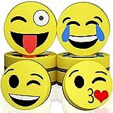 Magnet Smiley, zirkular Dry Whiteboard Radiergummi–Magnetischer Whiteboard Radiergummi für Zuhause, Büro und Schule Klassenzimmer gelb