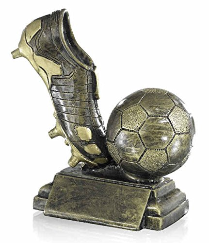 S.B.J - Sportland Fußball mit Schuhe Pokal/Ehrenpreis/Trophäe aus Resin