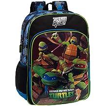 Tortugas Ninja 4612351 Mochila Escolar, 15.6 Litros, Color Azul