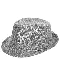 Alvaro castagnino Grey/Brown Men Fedora Hats