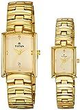 Titan Bandhan Analog Champagne Dial Couple Watch, 19402940YM02