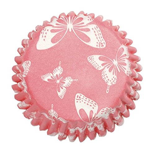 Blush Butterfly Printed Baking Cases - 54 per pack Butterfly Cupcake Pan