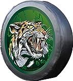 Aufkleber Tiger 40 cm Auto Reserverad Abdeckung Bezug Lackfolie
