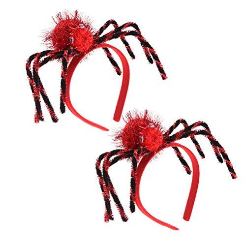 Amosfun 2 stücke Spinne Stirnband Halloween Cosplay Stirnband Spinne Haarband Cosplay Teufel Stirnband Dress Up Halloween Kopfschmuck Zubehör (Halloween Dress Beängstigend Up Games)