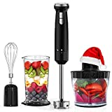 Hand Blender Homgeek 4 in 1 Immersion Blender with Heavy Duty Pure Copper