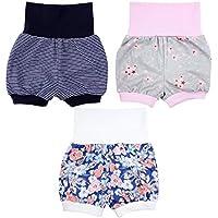 TupTam Baby Mädchen Sommershorts Kurze Pumphose 3er Pack