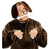 Hundeohren Haarreif Hunde Ohren Haarreifen Hund Kopfbügel Dog Plüschohren Hundekostüm Kopfbedeckung Fasching Tierkostüm Party Tierohren Tier Mottoparty Accessoire Karneval Kostüm Zubehör