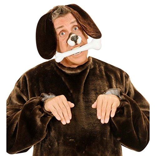 NET TOYS Haarreif Hunde Ohren Tierohren Kopfbügel braun Hundeohren Schlappohren Plüschohren