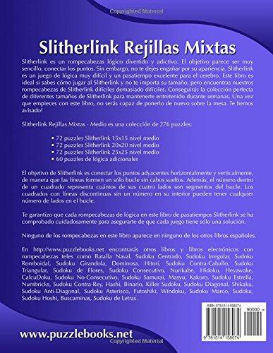 Slitherlink Rejillas Mixtas - Medio - Volumen 3 - 276 Puzzles: Volume 3