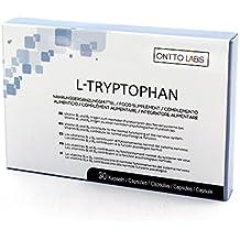 OnttoLabs Triptofano - Tabletas Naturales para Reducir la Ansiedad y el Estrés con L-Triptofano y L-Teanina - Ayuda contra el Insomnio y Mejora la Calidad ...