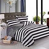 Bonner Mode Streifen Bettbezug Sets Bettwäsche Bettbezug und Kissenbezüge Bettwäsche Bettwäsche Set Modern Bettwäsche-Set, Königin