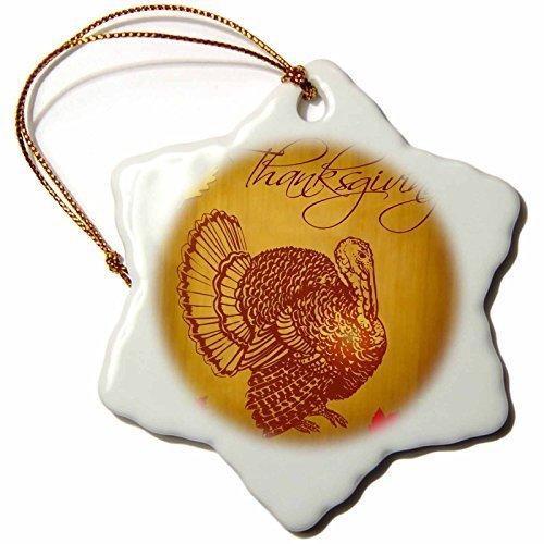 Weihnachten Craft Weihnachtsbaumschmuck Thanksgiving Türkei und Fall Blätter Schneeflocke Weihnachten Porzellan Dekoration Geschenk -