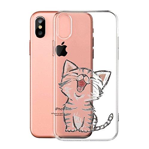 Per iPhone X Cover , YIGA Moda palloncino unicorno Cristallo Trasparente Silicone Morbido TPU Case Protezione Custodia per Apple iPhone X (5,8 pollici) WM104