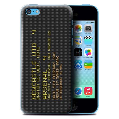 Officiel Newcastle United FC Coque / Etui pour Apple iPhone 5C / Pack 7pcs Design / NUFC Résultat Football Célèbre Collection 2011