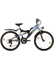 """KS Cycling Zodiac VTT Mixte Enfant, Bleu, 24"""""""