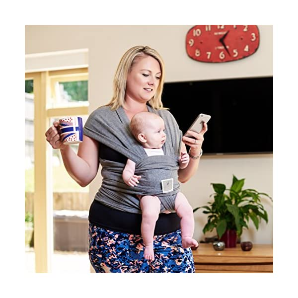 Premium Baby Carrier | Neutral Grey | One Size Fits All | Cozy & Soothing For Babies | Suitable for Newborns, Infants & Toddlers | Cotton/Spandex Comfort Fabric |100% Infinity Guarantee | Ideal Gift Funki Flamingo ENJOY FREE HANDS AGAIN: Get your freedom back. Do housework, grab a coffee, shop & tend to other kids while keeping baby close. Baby stays happy while you're more productive & less stressed. Great for fussy babies! STRENGTHEN BOND WITH BABY: Forging a close bond with your infant is vital to their development. Our wrap keeps baby close to your warm body & heartbeat where they feel safe & secure. For newborn - 35 lbs. UNBEATABLE QUALITY: Manufactured with premium materials to ensure years of use and repeated washings. Sturdy fabric holds your baby safely & securely. This is a wrap you'll pass on to friends and family! 3