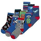 Boys Novelty Cotton Rich Socks (9 & 18 Pairs Multipack) Dinosaurs Space Monster Skulls Football