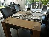 GGM Weihnachtstischdecke 140 x 40cm, Deckchen, Tischläufer, Tischdecke, Weihnachten Patchwork schwarz/grau