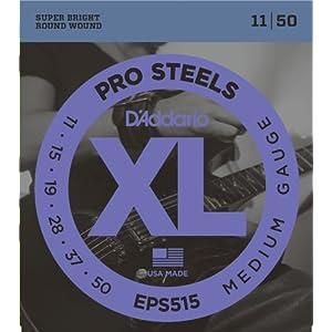 D'Addario EPS515 11-50 Medium ProSteels Electric Guitar Strings
