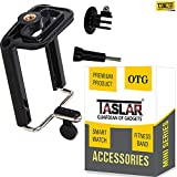 #1: Taslar® Holder Tripod Monopod Mount Adapter For Mobile Phone, Smartphones With Universal Mobile Holder Monopod Mount Adapter & Long Screw Accessory - Black