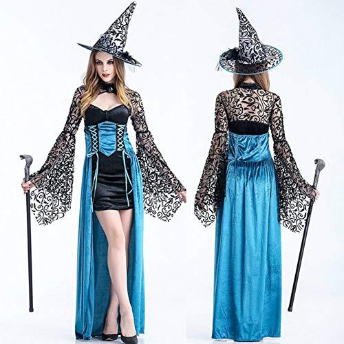 Lycra Gewebe Kostüm - GUAN Halloween Kostüm für Erwachsene Hexe Cosplay Kostüm Hexenkostüm Adult Party Dance Party Kostüm