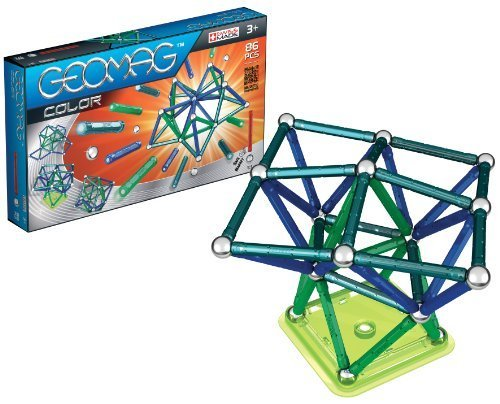 Geomag, 86 Piece Construction Set, Assorted Color by Geomag (English Manual)