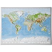 Relief Welt klein ohne Rahmen (1:107.000.000)