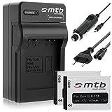 2 Batteries + Chargeur (Auto/Secteur) Samsung SLB-10A / ES50.. L100, PL, SL, TL,...