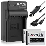2 Batterie + Caricabatteria (Auto/Corrente) per Samsung SLB-10A / ES50.. L100, PL, SL, TL, WB vedi lista