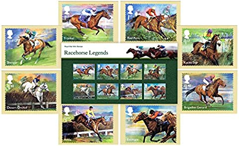 Gift Set of 2017 Racehorse Legends Stamps Presentation Pack and