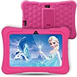 DragonTouch Dragon Touch Y88X Plus Kids Tablet Android 7 Inch IPS Display Quad Core 1Gb Ram 8Gb ROM WiFi Bluetooth G-Sensor Cameras Kidoz & Google Play Pre-Installed With Pink Case