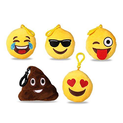 HC-Handel-922617-Plsch-Emoji-Emotion-mit-Sound-Karabiner-sortiert