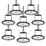 Natur LED UFO Lampada Industriale, Illuminazione Bianco Freddeo Impermeabile IP65,LED Alta Luce Della Baia Interna o esterni (100W, 8 Packs)