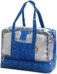 Jisen Beach Swim Packs Storage Bag Bath Pocket Bag- Waterproof Large Capacity - Wet And Dry Separation Wash Bag...