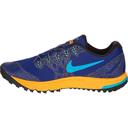 Nike Air Zoom Wildhorse 3, Chaussures de running entrainement homme Azul / Naranja (Dp Royal Blue / Bl Lgn-Lsr Orng)