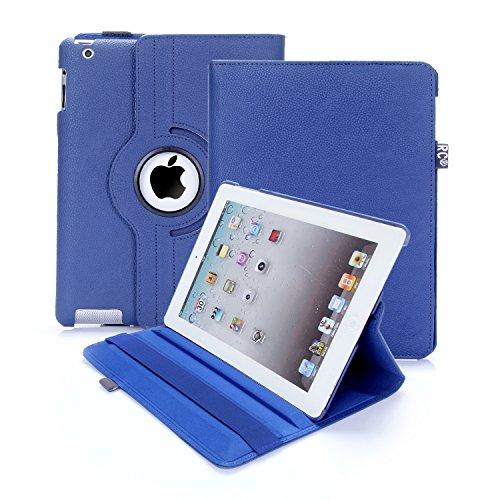Custodia per iPad 2/3/4, RC copertina con Rotazione a 360 gradi Custodia in Pelle PU per Apple iPad 2 3 4 con Smart Cover (Marina Militare)