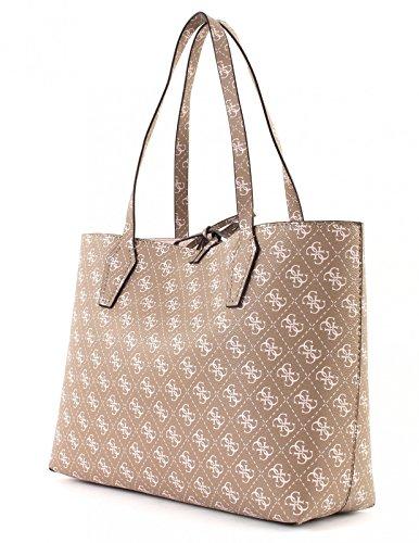 Guess Damen Hwgs6691230 Shopper, 15x26.5x42 cm mocha logo stone