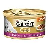 Gourmet Gold Häppchen Sauce Kalb & Gemüse 12x 85g Katzenfutter nass
