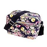 Subfamily® Fashion Women Leinwand Crossbody Bag Schultertasche Messenger Bag Kosmetiktasche Frauen Damen Tasche Handtasche Retro und klassisches Design (blau)