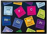 1art1 97692 Periodensystem der Elemente - Kohlenstoff, Barium, Brom, Radium, in Englisch Fußmatte Türmatte 70 x 50 cm