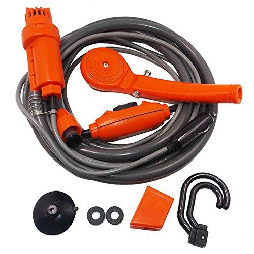 Azx doccia portatile per auto camper campeggio doccia lungo elettrico pompa acqua regolabile arancione