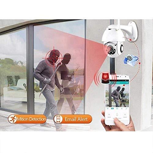 PTZ IP Kamera Aussen WLAN IP Dome Überwachungskamera 1080P Pan 320°/ Tilt 110°, Zwei Wege Audio, APP Alarm, IR Nachtsicht, Bewegungserkennung, IP66 Wasserdicht, Fernzugriff