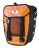 Red Loon Pro Packtasche Fahrradtasche Gepäckträgertasche LKW-Plane Wasserdicht (Orange/Schwarz)