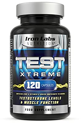 TEST XTREME® - The ULTIMATE Testosterone Booster Supplement | Testosterone & Muscle | 120 Capsules