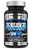 TEST XTREME® - The ULTIMATE Testosterone Booster Supplement   Testosterone & Muscle   120 Capsules