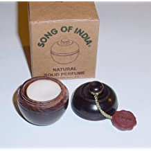 Nag Champa Solid Perfume In Hand Carved Rosewood Jar - Song of India by Nag Champa