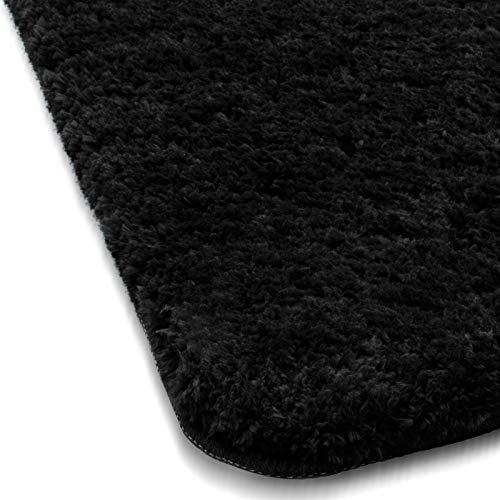 Sky Badematte Uni | Schwarz - Öko-Tex 100 Zertifiziert | Verschiedene Größen - 80x150cm - Natur-badezimmer-teppich