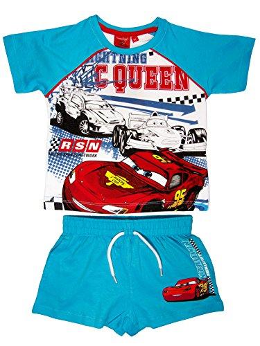 Cars Official - Pantalones Cortos de Verano para niños con Camiseta para niños de 3,4,6,8 años