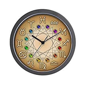 Horloge pendule murale motif astrologie for Pendule de cuisine amazon
